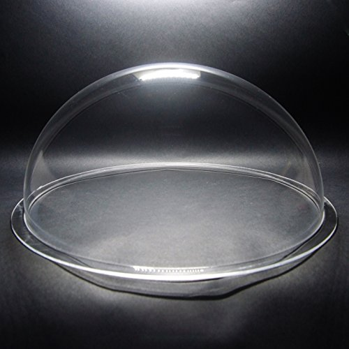 DURADOM Acrylic Dome With Flange Clear Plastic Hemisphere – Multi Use Bubble Pet Dog Fence Window Sphere CCTV Dome Acrylic Camera Perspex Display Transparent Cover Floating Fish Dome (14 inch / 350mm) Review