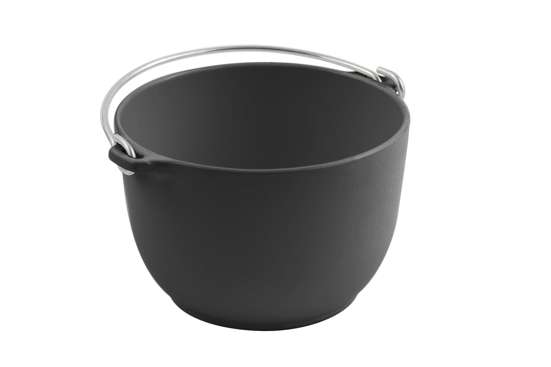 Bon Chef 3006BLK Aluminum Soup Tureen Server with Bail Handle, 1-1/2 quart Capacity, 6-3/4'' Diameter x 4-1/2'' Height, Black (Pack of 3)