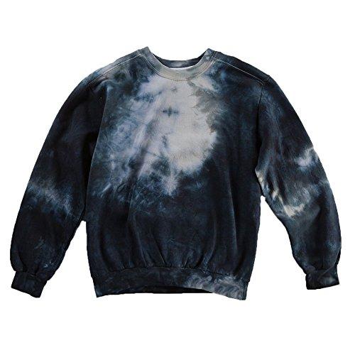 Black Tie Dye Sweatshirt Unisex Festival Hoodie Grateful dead Plus Size S, M, L, XL, (Everything Adult Sweatshirt)