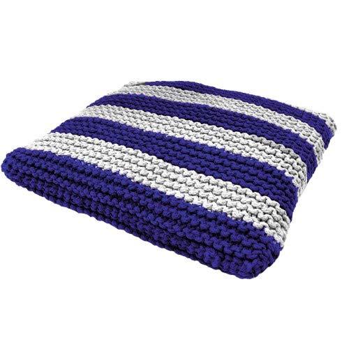 CROCI Cabana Blue Braided Cushion for Animals, Size 50x50 cm