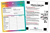 Babysitter Checklist with Infant/Child CPR - Magnetic, Laminated, Dry Erase Pen
