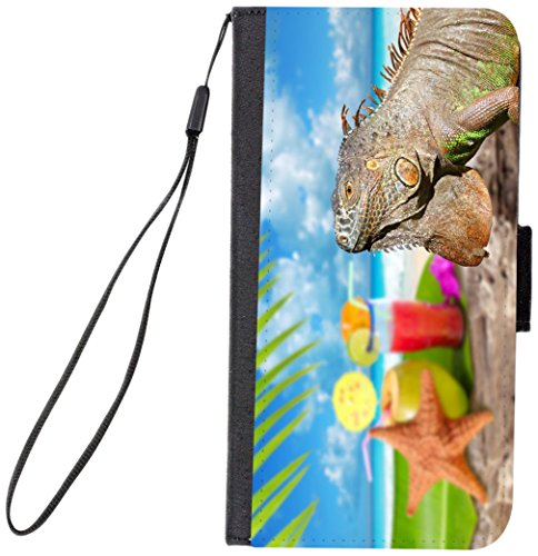 Starfish Clasp (Rikki Knight Magnetic Clasp Closure Folio Case for Apple iPhone 7 Plus/ iPhone 8 Plus - Iguana and Starfish On Mexico Tropical Beach)