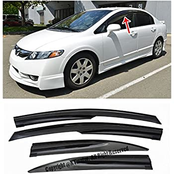 Extreme Online Store For 06 11 Honda Civic 4Dr Sedan Mugen Ll Style Tape On  Side Vent Sun Shade Window Visors Rain Guard Deflectors 2006 2007 2008 2009  2010 ...