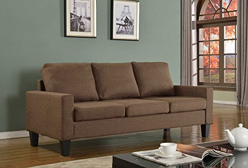 Home Life 3 Person Contemporary Upholstered Linen Sofa, 77