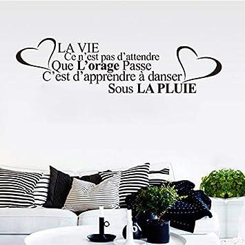 Amazon Com French Citation De La Vie Vinyl Wall Decal