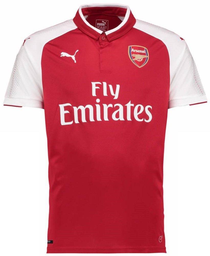PUMA(プーマ) アーセナルFC ホームユニフォーム 2017/18 Arsenal FC Home Shirt 2017/18 [並行輸入品] B0748JFVY9 インポートM|8 ラムジー / Ramsey [プレミアリーグバッジ付き] インポートM