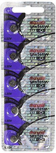 Maxell SR626SW 377 Silver Oxide Watch Battery Bundle of 20