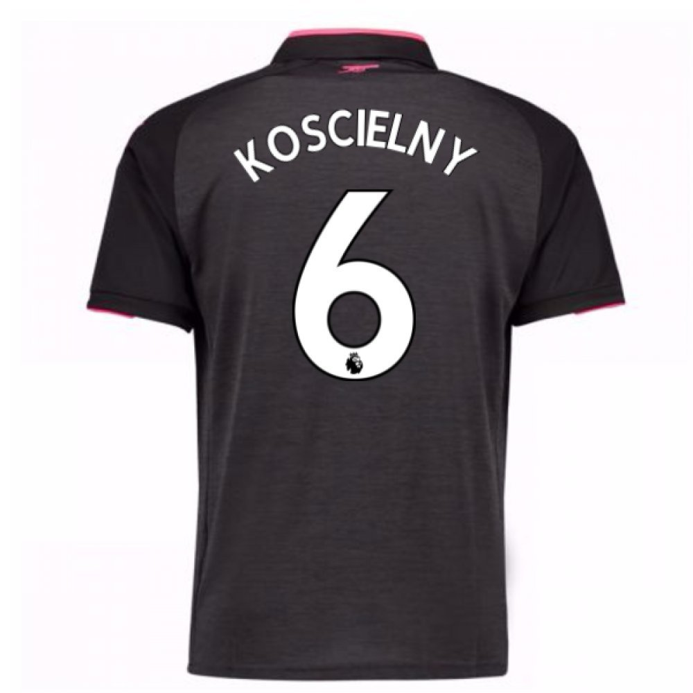 2017-18 Arsenal Third Football Soccer T-Shirt Trikot (Laurent Koscielny 6)