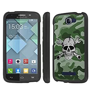 NakedShield Alcatel One Touch Fierce 2 7040T (Camouflage Wrench Skull) Total Hard Armor LifeStyle Phone Case