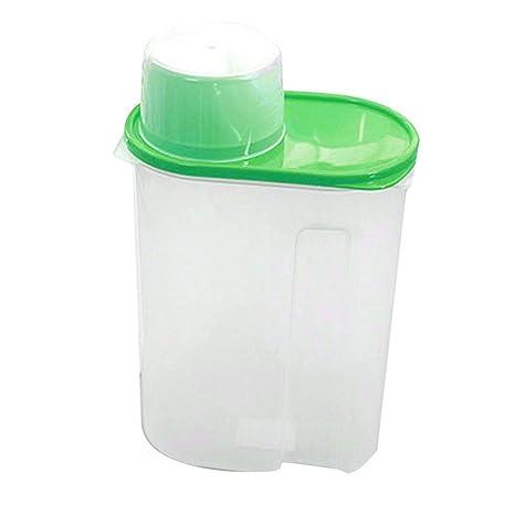 display08 arroz granos de cereales dispensador de almacenamiento de alimentos secos contenedor tapa caja sellada