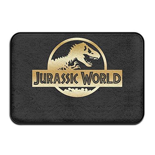 Non-slip Jurassic World Black A Gold Logo 40*60cm Doormat Oxjwn