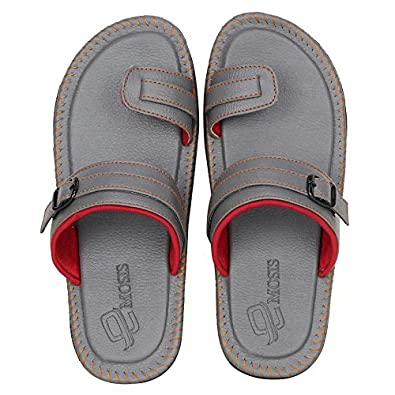c82828ac4b1e Emosis Men s Stylish 31 Blue Brown Black Colour Casual Ethnic Formal Office  Slide Slipper Cum Sandal  Buy Online at Low Prices in India - Amazon.in