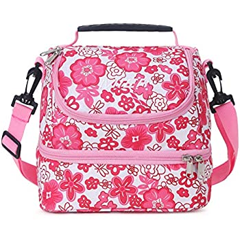 Amazon com: MIER Dual Compartment Insulated Lunch Box Bag