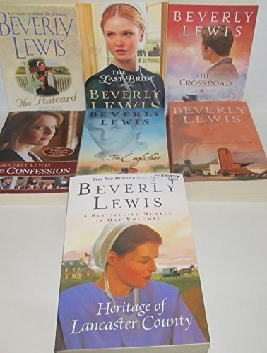 Author Beverly Lewis Seven Book Bundle Collection, Includes: The Crossroad - The Last Bride - The Postcard - The Englisher - The Confession - Heritage of Lancaster County - Summer Hill Secrets #1 (Lewis Last Beverly Bride)
