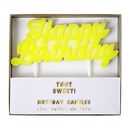 Meri Happy Birthday Candles Amazoncouk Kitchen Home
