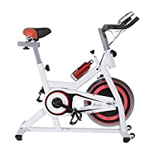 Soozier Pro Indoor Cycling Exercise Bike Fitness Cardio Workout Aerobic Machine with Water Bottle Home Gym Office