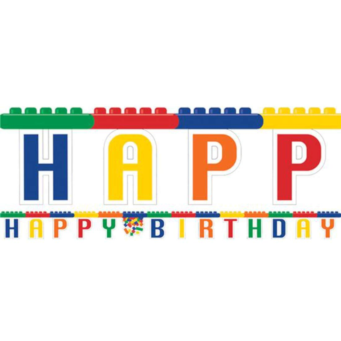 Creative Converting Block Party Large Jointed Happy Birthday Banner