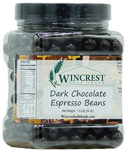 Chocolate Espresso Beans - 1.5 Lb Tub (Dark Chocolate)