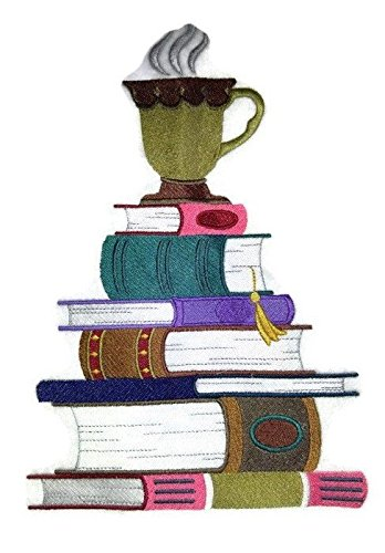 (Custom and Unique Cup For Book Lover Embroidered Iron on/Sew patch [10.22