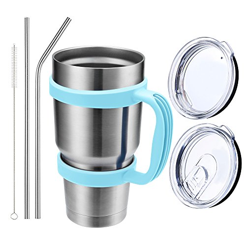 Comfy Mee Double wall Vacuum Insulated Stainless Steel Tumbler with (Mug 1 Handle)