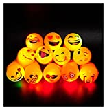 LED Light Up Flashing Emoji Party Favor Rings 36 PC w/ 6 Styles by Mammoth Sales