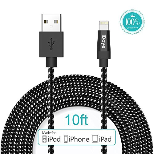 Apple-MFI-Certified-Idaye-3M10ft-Lightning-8pin-to-USB-Sync-Cable-Apple-Charging-Cord-for-iPhone-6s-Plus6s66-plus55s-iPad-Air-and-Mini-iPod-black