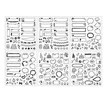 BleuMoo Cartoon Calendar Paper Sticker Scrapbook Calendar Diary Planner Decor