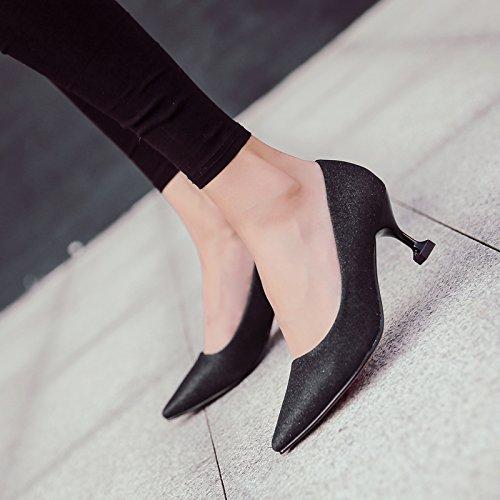 novia de 40 plata y bodas fina negro tacón zapatos la de El de con punta de 5cm zapatos de mujer novia Vía Zapatos vestido madre oro Zapatos de zapatos qwYpqZSxP
