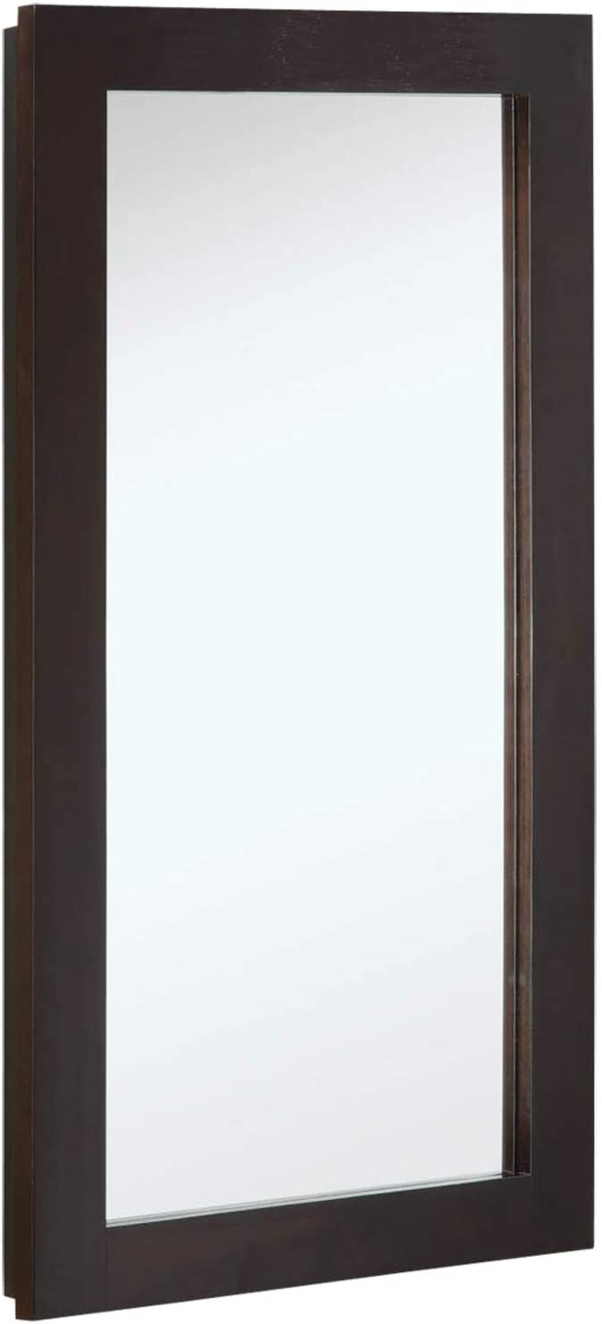 Design House 541326 Ventura Framed Mirrored Medicine Cabinet in Espresso, 16