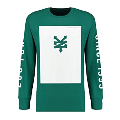 Zoo Designer Clothing | Zoo York Mens Designer Square Long Sleeve Apine Green T Shirt Top