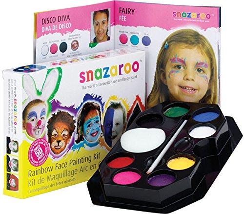 Snazaroo Childrens Multi Purpose Face & Body Painting Rainbow Stage Make Up Kit ()
