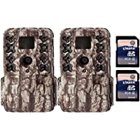 Moultrie M40 16MP 80 Video LowGlow IR Game Trail Cameras (2) + 8GB SD Cards (2)