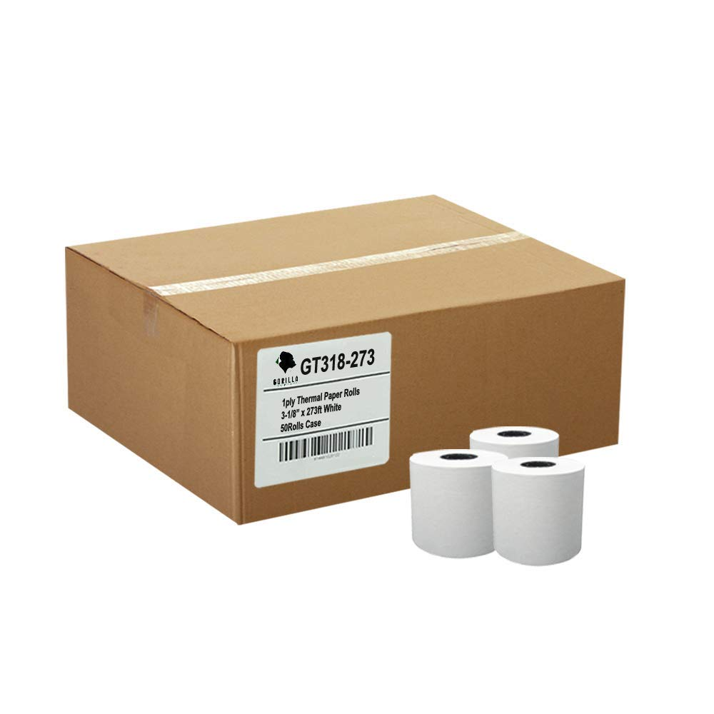 Gorilla Supply (50) 3-1/8 x 273' Thermal Paper Rolls Star Micronics TSP 100 300 500 600 700 CT-S300