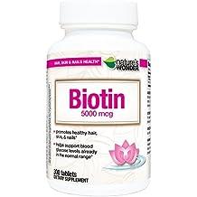 Nature's Wonder Biotin 5000mcg Tablets, 300 Count