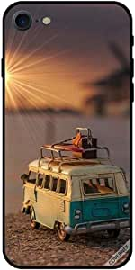 For iPhone 7 Case Toy Bus With Bags