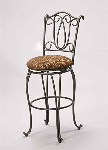 Asia Direct Home Metal Swivel Bar Stool in Bronze Finish – Set of 2