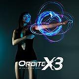 Emazing Lights Orbite-X3, 4 Light Orbit LED Rave Toy (Clear Casing)