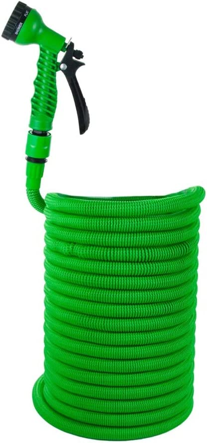 Grafner 30m Gartenschlauch Flexibler Wasserschlauch dehnbarer Flexischlauch Pink