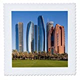 3dRose Danita Delimont - Cities - UAE, Abu Dhabi. Etihad Towers - 20x20 inch quilt square (qs_277136_8)