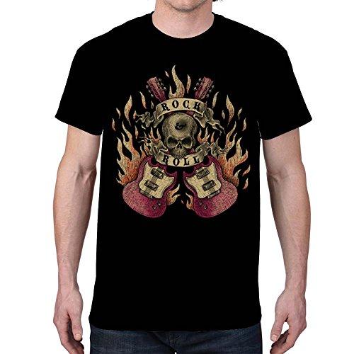 Men's ROCK AND ROLL Black T-Shirt