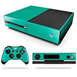 Xbox One Skin Decals Dark Aqua Green With Free Controller Skin