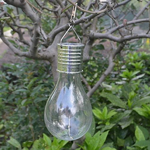 Foco solar impermeable giratorio para exteriores, jardín, camping, 5 luces LED, luz ecológica, lámpara solar, color plateado: Amazon.es: Iluminación