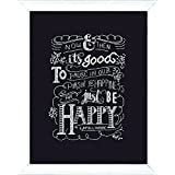 Design Works Crafts Be Happy Chalkboard Counted Cross Stitch Kit, 8 by 10