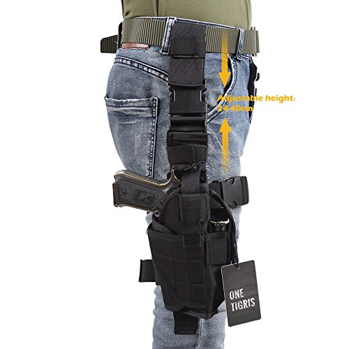OneTigris-Drop-Leg-Holster-for-Right-Handed-Shooters-Adjustable-Tactical-Military-Airsoft-Pistol-Gun-Thigh-Holster-for-1911-45-92-96-Glock