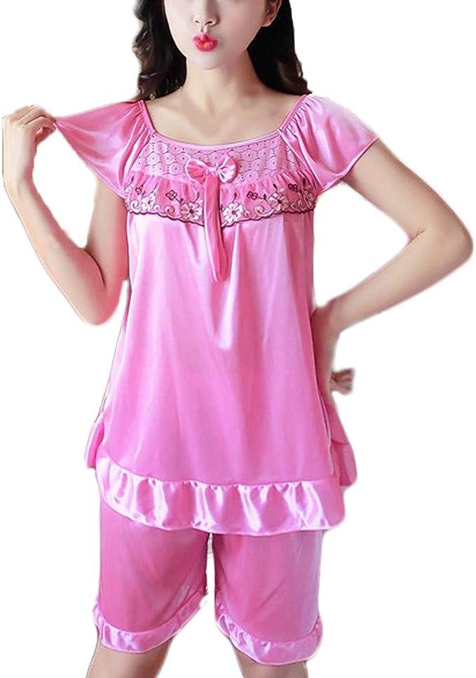 Womens Sexy Sheer Sleepshirt Pajamas Long Sleeve Mesh