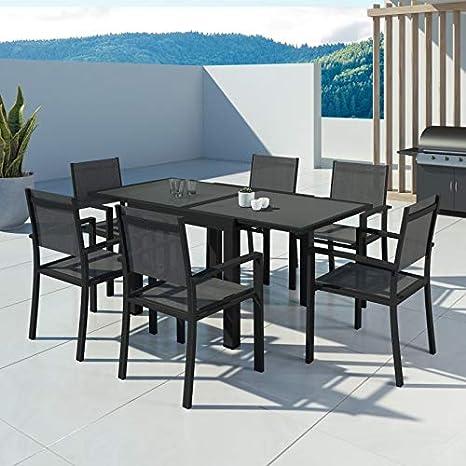 IMS GARDEN Hara-Table de jardín Extensible Aluminio 90/180 ...