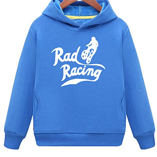 Mus-Tang Kids Racing Retro Vintage 80s Hoodie With Side Pockets (BU,2T) Mustang Boy Racer