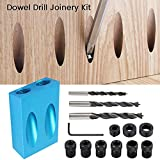 Pocket Hole Screw Jig Dowel Drill Joinery Kit