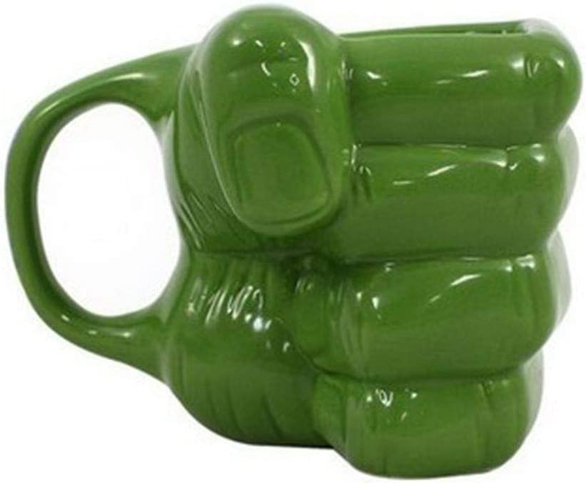 Caneca 3D formato mão Hulk