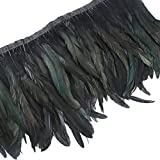 AWAYTR Rooster Hackle Feather Trim 10-12 inches